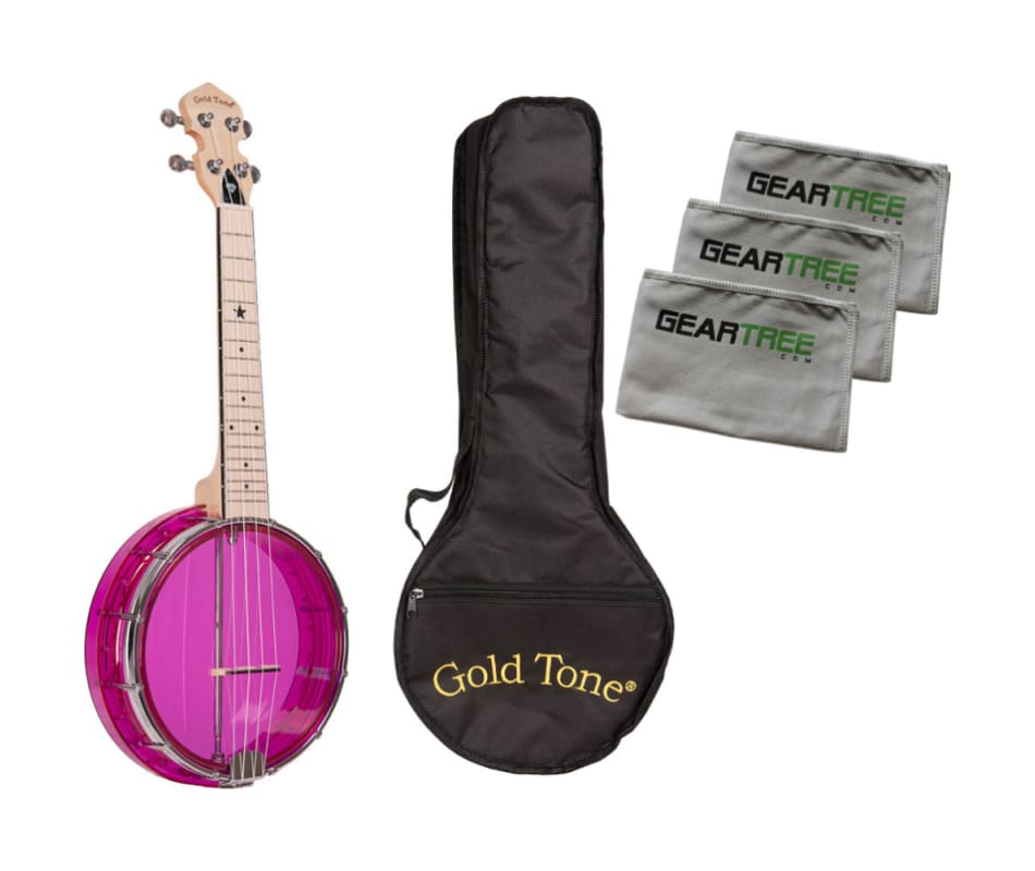 Gold Tone Little Gem Amethyst Clear Banjo Ukulele