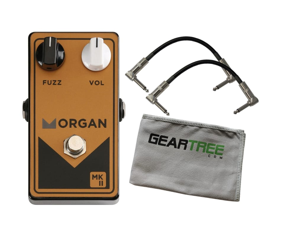 Morgan MKII Fuzz Guitar Effect Pedal Bundle w/Cabl