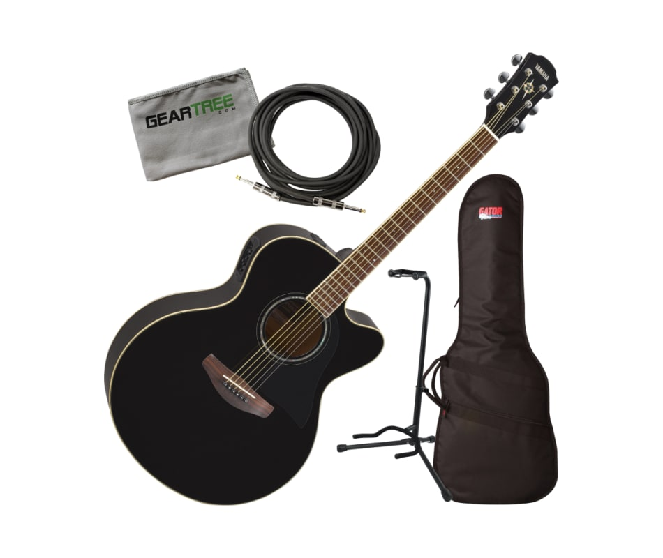 Yamaha APX600 BL Black Thin Body Acoustic-Electric