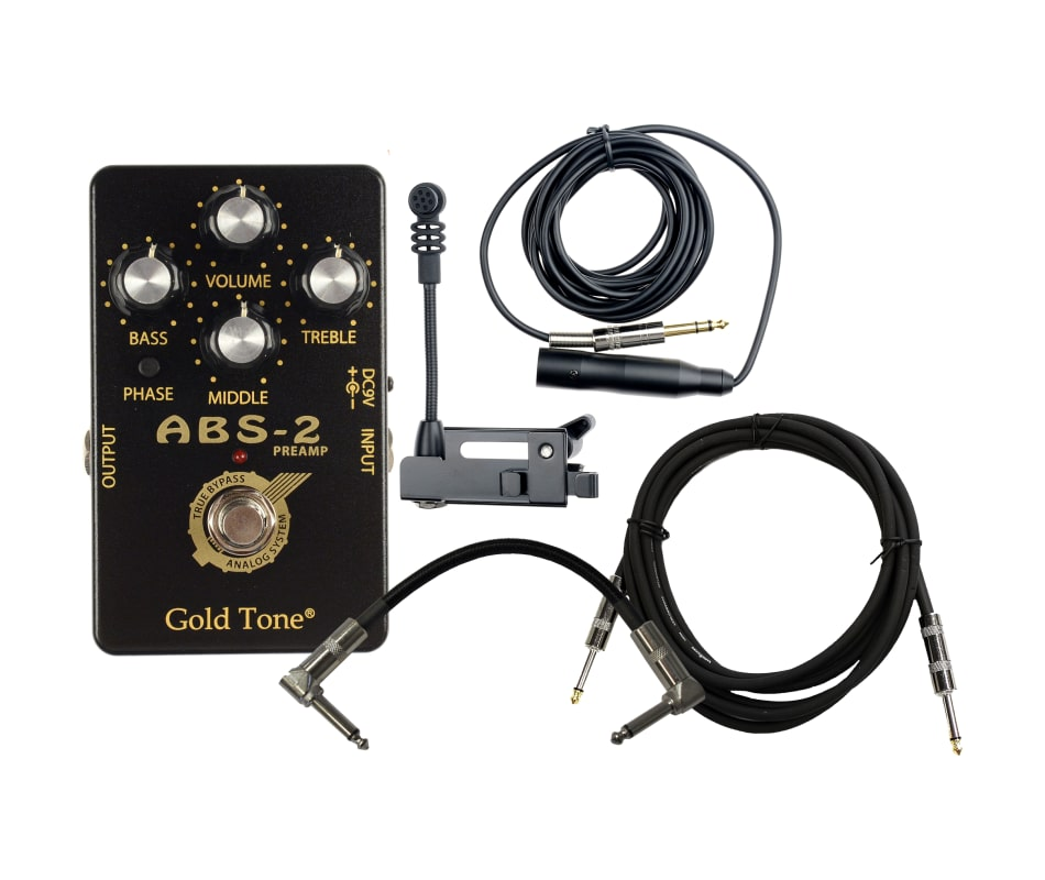 ABS Dynamic Banjo-Resonator Guitar Mic Bundle