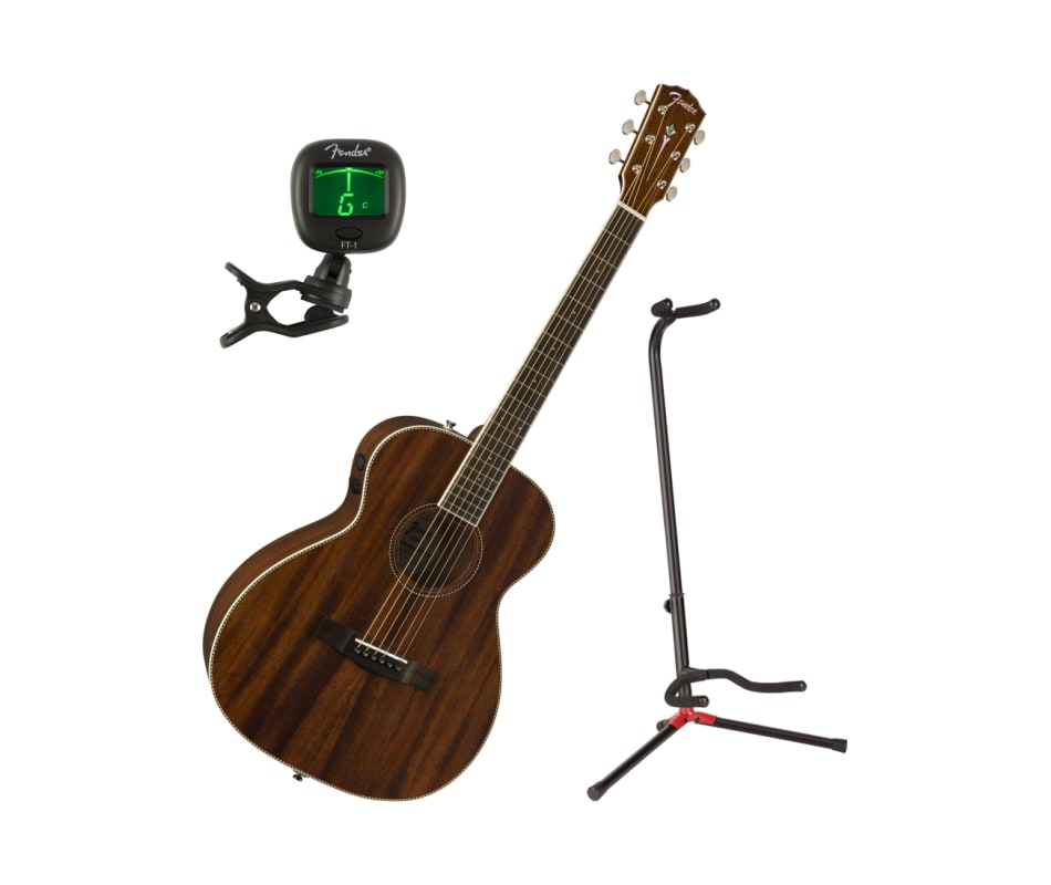 PM-TE Travel Mahogany Acoustic-Electric Bundle