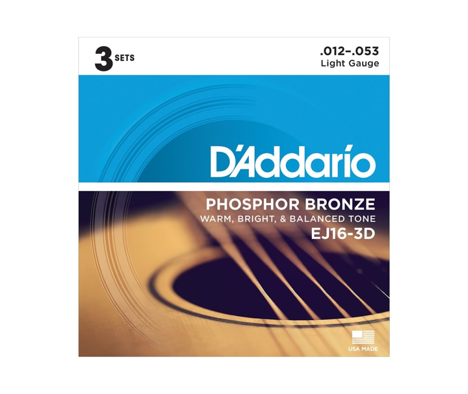 EJ16-3D Posphor Bronze Light Acoustic Strings