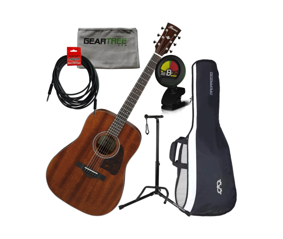 AVD9MH Artwood Thermo Aged Acoustic Guitar Bundle