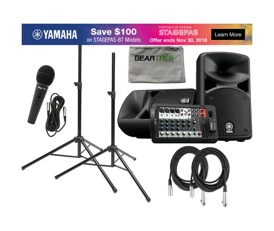 Yamaha STAGEPAS 400 BT 400-watt, Portable PA Syste