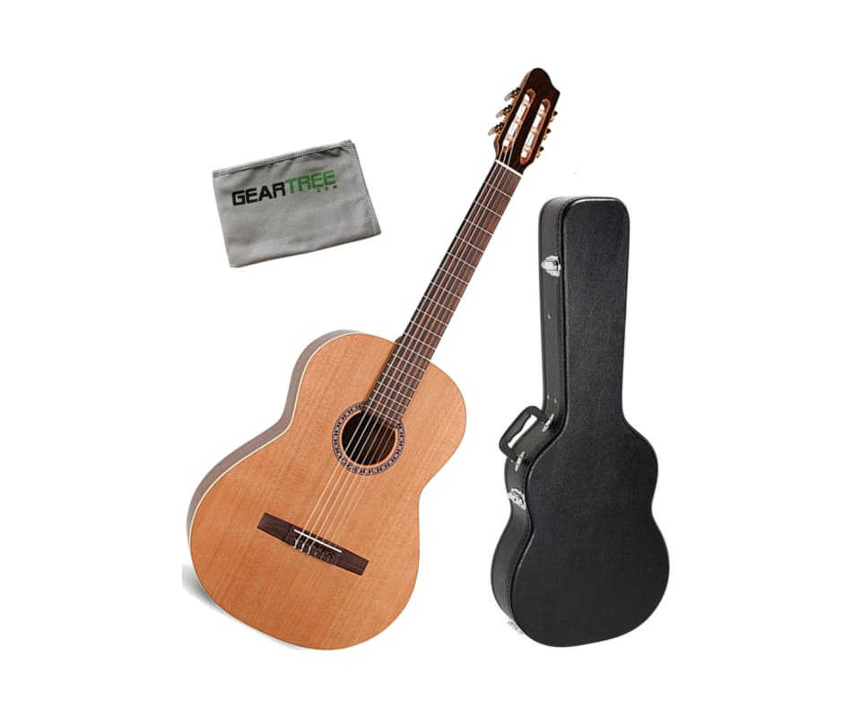 La Patrie Concert Classical Acoustic Guitar Bundle