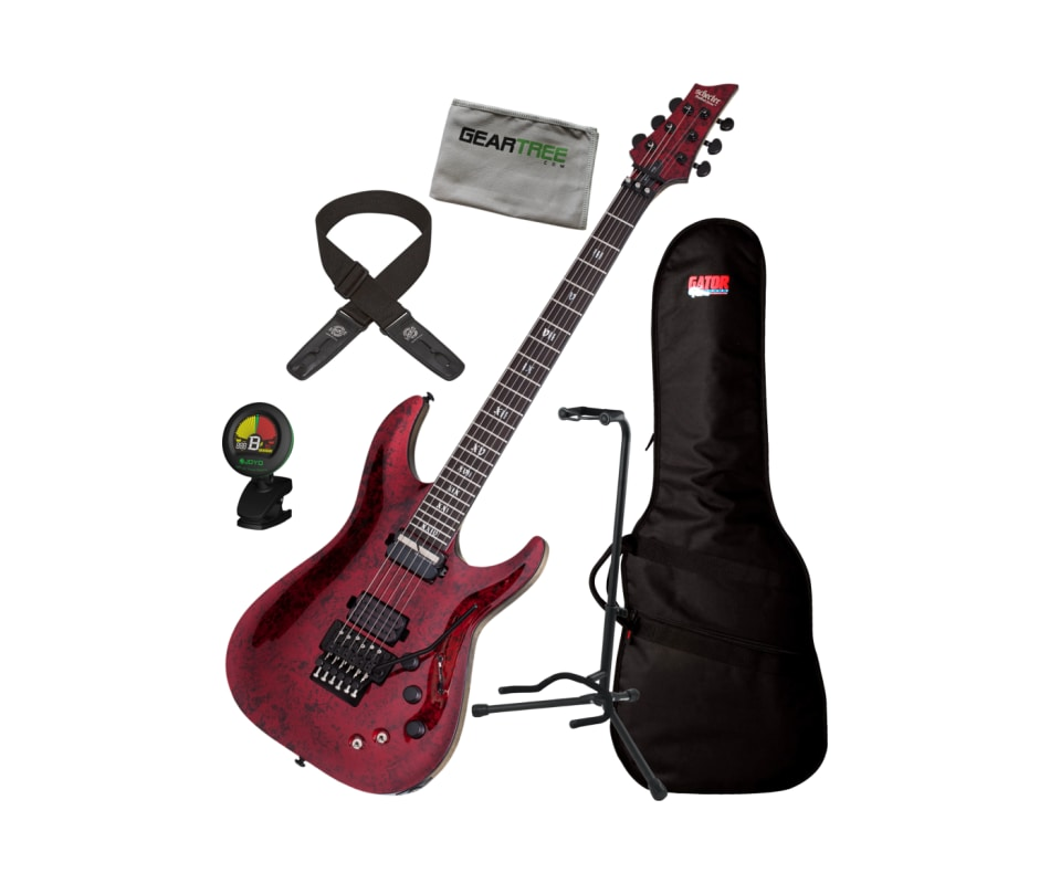 Schecter C-1 FR-S Apocalypse Electric Guitar Red R