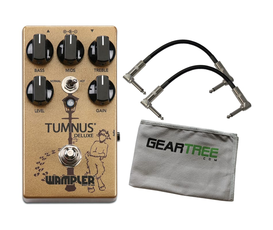 Wampler Tumnus Deluxe Overdrive/Boost Pedal w Patc