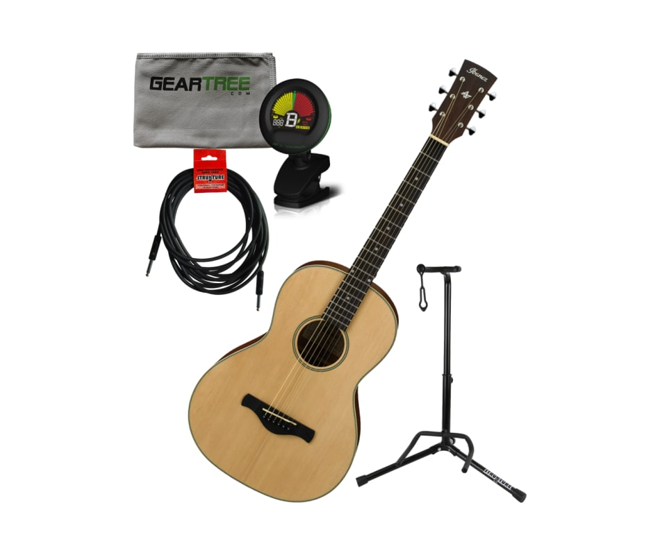 AN60LG Artwood Vint. Parlor Acoustic Guitar Bundle