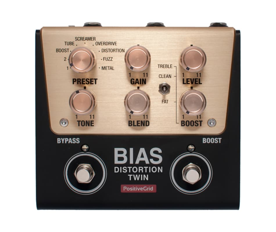 BIAS Distortion Twin 2-Button Customizable Pedal