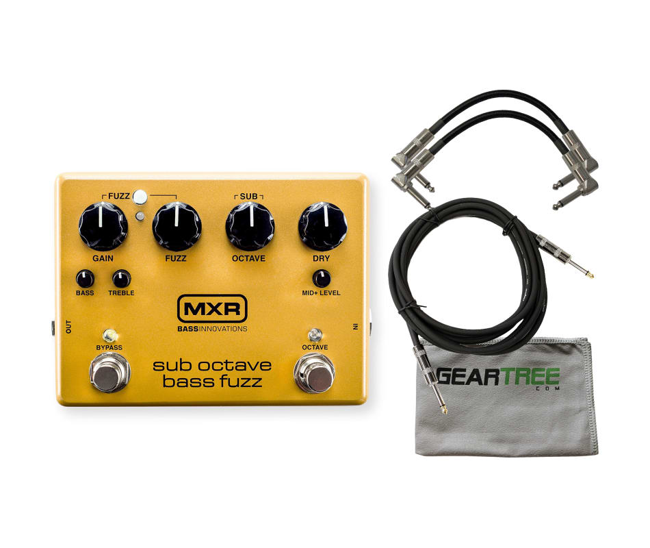 M287 Sub Octave Bass Fuzz Effect Pedal Bundle
