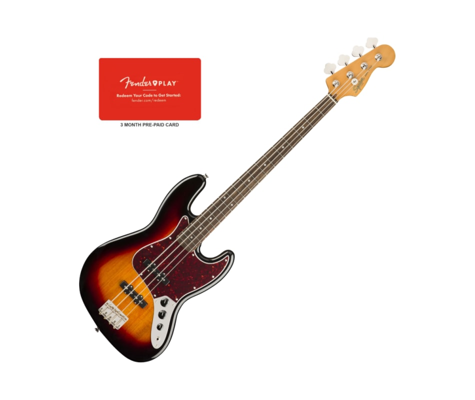 Squier 0374530500 Classic Vibe 60s Jazz Bass, Laur