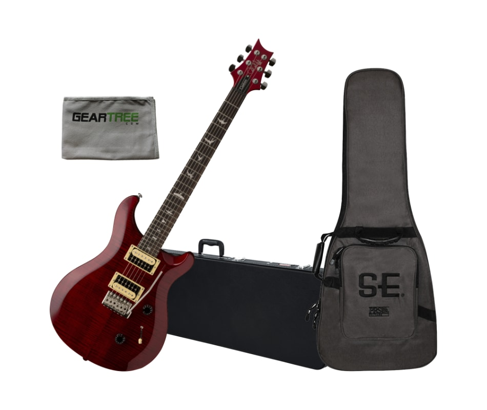 SE Custom 24 Scarlet Red Electric Guitar Bundle
