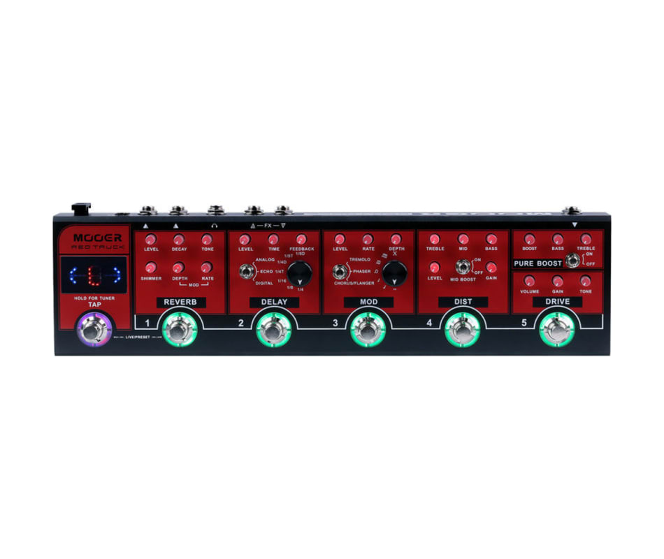Red Truck Multi Effects Pedal 6-in-one