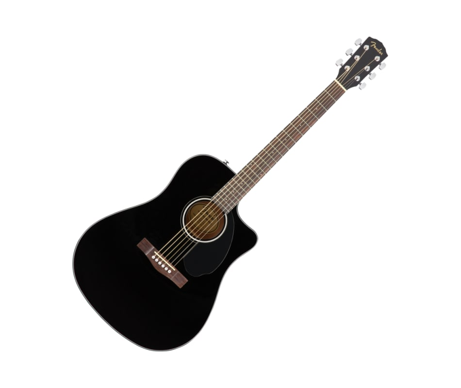 Fender CD-60SCE Dreadnought Solid Top Black Acoust