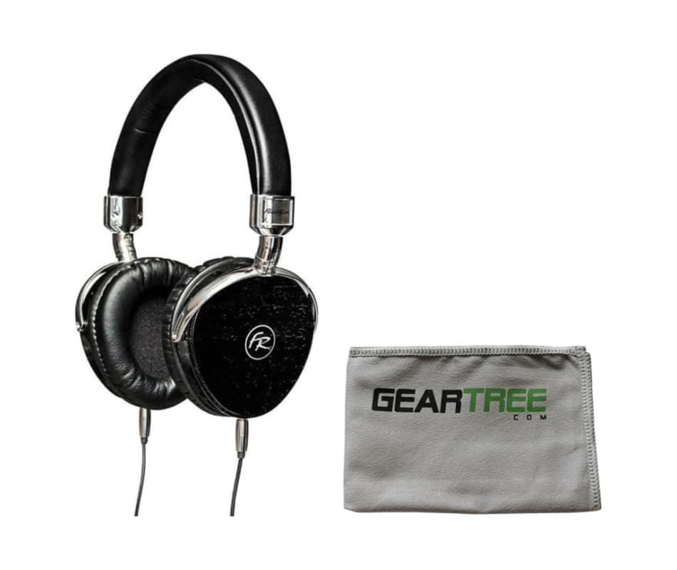 FR18BK Black Wood HiFi Headphone Bundle