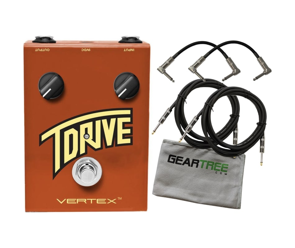 T Drive Overdrive Pedal w Geartree Cloth, 4 Cables