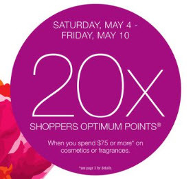 20x Shoppers Optimum Points