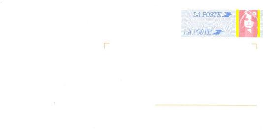 adresse postale de l'agence immobilière des Lilas à Gien (45500), sur une envoloppe timbrée