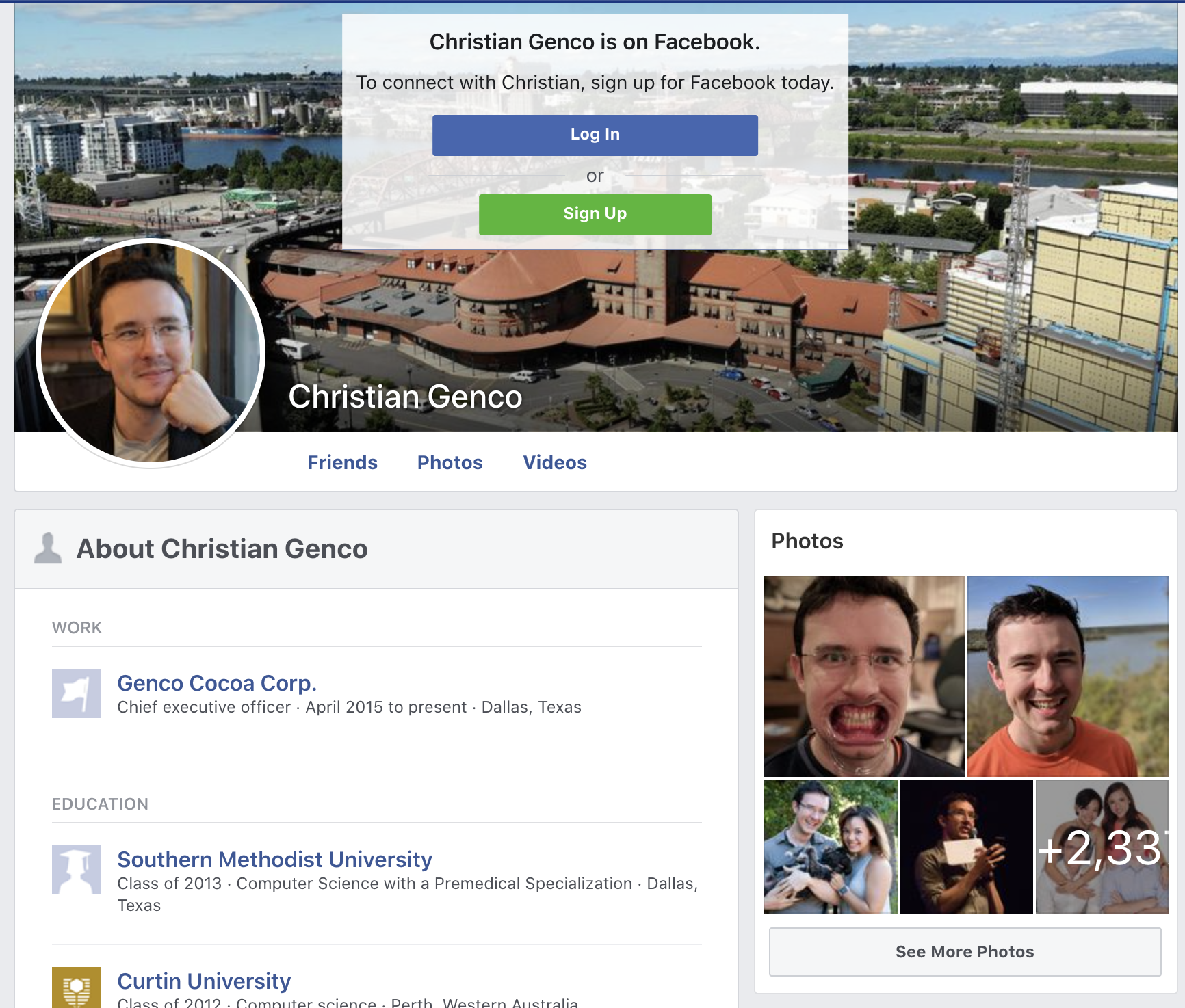 My public Facebook profile shows pictures of me with my ex wife and I can't change it