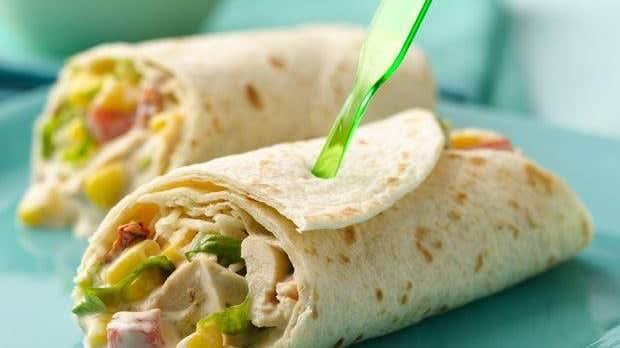Wraps poulet fajita salade