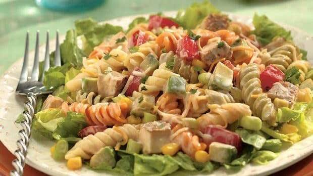 Salade de pâtes au poulet façon Southwestern