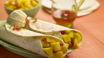 Fajitas sucrées à la mangue