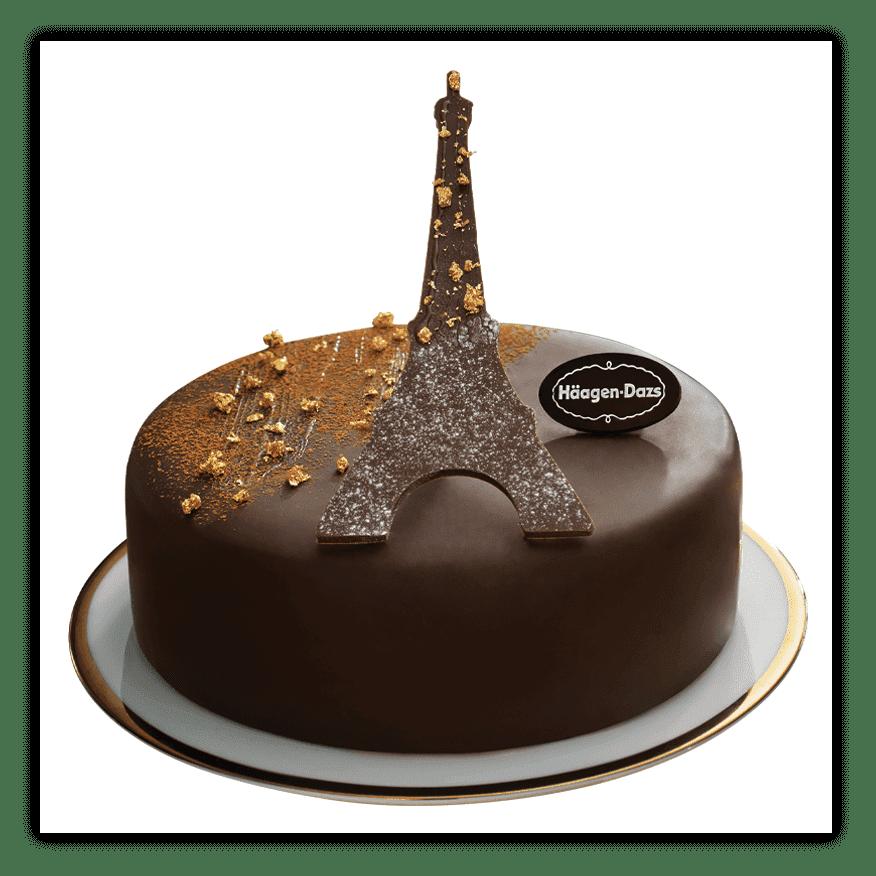 Brilliant Paris At Night Ice Cream Cakes Haagen Dazs Personalised Birthday Cards Akebfashionlily Jamesorg