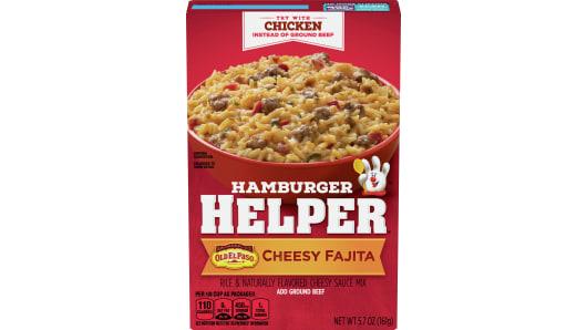 Cheesy Fajita Hamburger Helper - Front