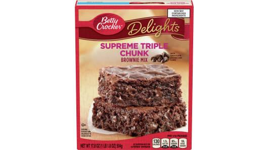 Betty Crocker™ Supreme Triple Chunk Brownie Mix - Front