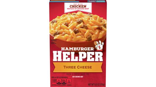 Three Cheese Hamburger Helper - Front