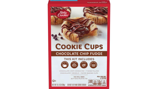 Betty Crocker Cookie Cups - Chocolate Chip Fudge - Front