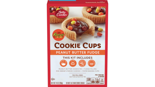 Betty Crocker Cookie Cups - Peanut Butter Fudge - Front