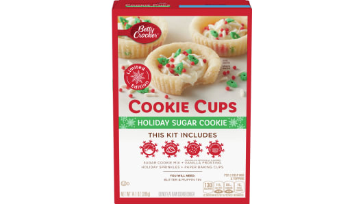 Betty Crocker Holiday Sugar Cookie Cups - Front