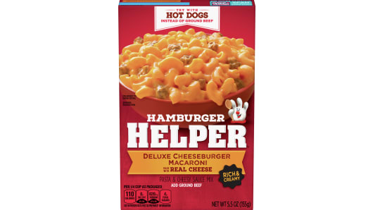 Deluxe Cheeseburger Macaroni Hamburger Helper - Front
