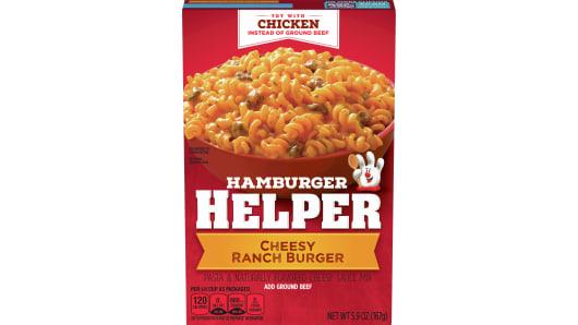 Cheesy Ranch Burger Hamburger Helper - Front