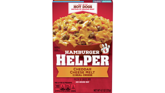 Cheddar Cheese Melt Hamburger Helper - Front