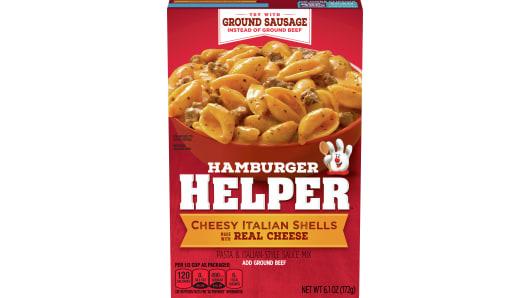 Cheesy Italian Shells Hamburger Helper - Front