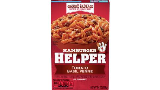 Tomato Basil Penne Hamburger Helper - Front