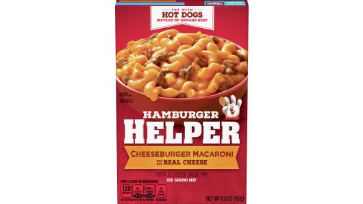 Hamburger Helper Cheeseburger Macaroni Pasta Meal - Front