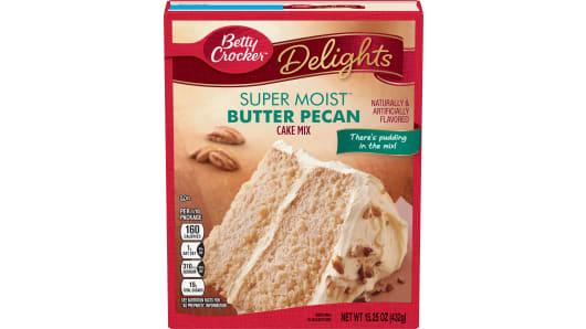 Betty Crocker™ Super Moist™ Delights Butter Pecan Cake Mix - Front