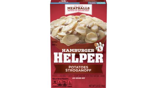 Potatoes Stroganoff Hamburger Helper - Front