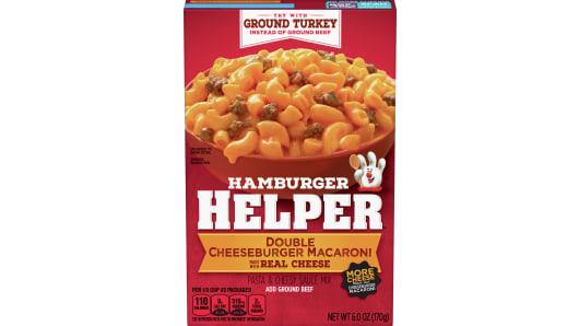Double Cheeseburger Macaroni Hamburger Helper - Front