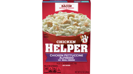 Chicken Helper Fettuccine Alfredo Dry Dinner Mix - Front