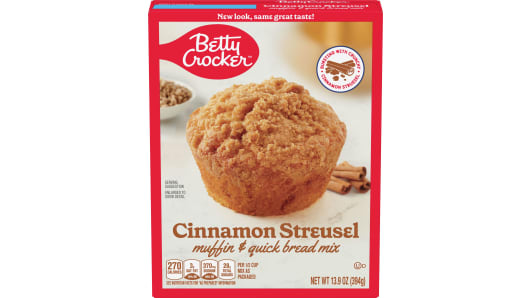 Betty Crocker™ Cinnamon Streusel Box Muffin Mixes - Front