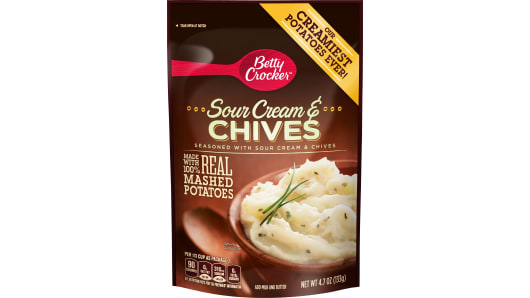 Betty Crocker Sour Cream & Chives Mashed Potatoes - Front