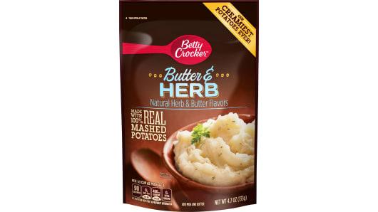 Betty Crocker Butter & Herb Mashed Potatoes - Front