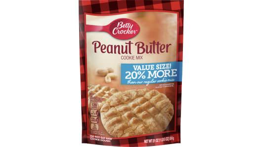 Betty Crocker Peanut Butter Cookie Mix Value Size - Front