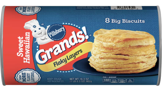 Grands!™ Flaky Layers Sweet Hawaiian Biscuits - Front