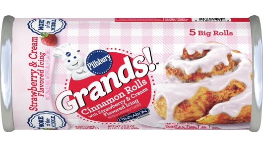 Pillsbury™ Grands!™ Cinnamon Rolls with Strawberry & Cream Flavored Icing - Front