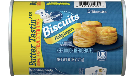 Pillsbury™ Flaky Layers Butter Tastin' Biscuits 5 ct - Front